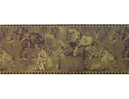 Prepasted Wallpaper Borders - Animals Wall Paper Border ZA30114