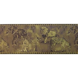 10 1/4 in x 15 ft Prepasted Wallpaper Borders - Animals Wall Paper Border ZA30114