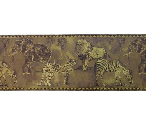 Jungle Wallpaper Borders: Animals Wallpaper Border ZA30114
