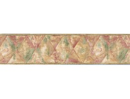 Prepasted Wallpaper Borders - Vintage Wall Paper Border JSO3020