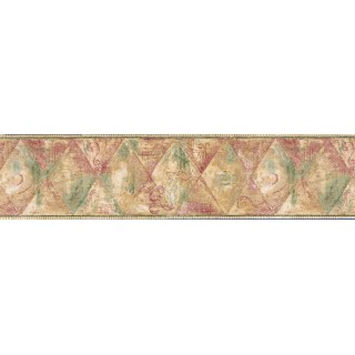7 1/5 in x 15 ft Prepasted Wallpaper Borders - Vintage Wall Paper Border JSO3020