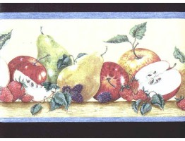 Prepasted Wallpaper Borders - Fruits Wall Paper Border b3026cy