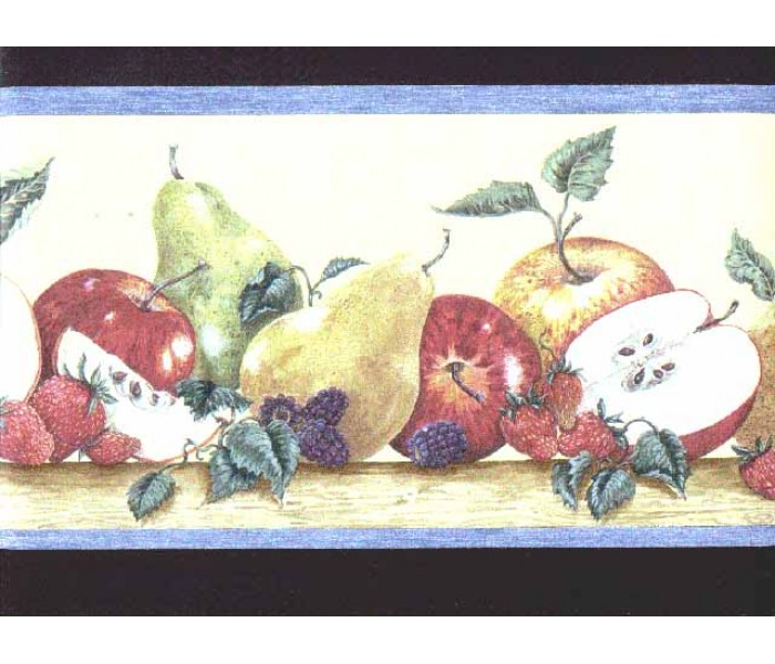 Clearance: Fruits Wallpaper Border b3026cy