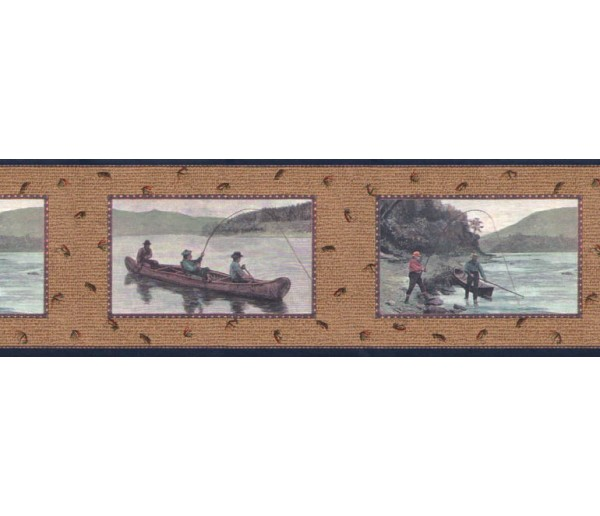 Clearance: Fishing Wallpaper Border B3031nv
