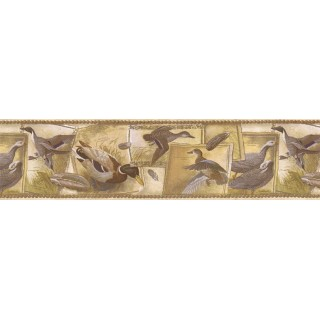 6 7/8 in x 15 ft Prepasted Wallpaper Borders - Birds Wall Paper Border SG30433