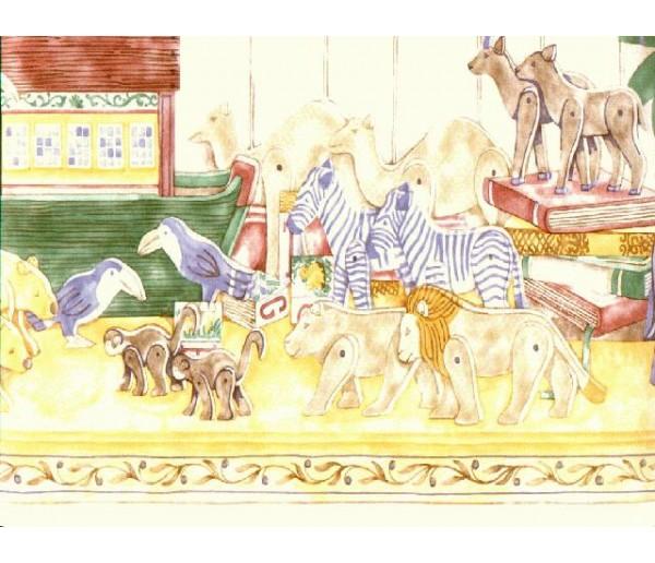 Toys Wallpaper Borders: Animals Wallpaper Border BCB309