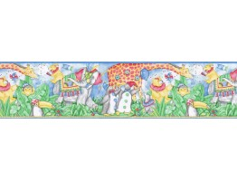 Prepasted Wallpaper Borders - Animals Wall Paper Border B3102FK