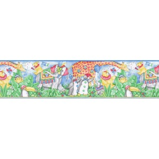 9 in x 15 ft Prepasted Wallpaper Borders - Animals Wall Paper Border B3102FK