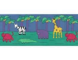 Prepasted Wallpaper Borders - Animals Wall Paper Border YFB313