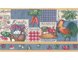 Prepasted Wallpaper Borders - Kitchen Wall Paper Border b3212am