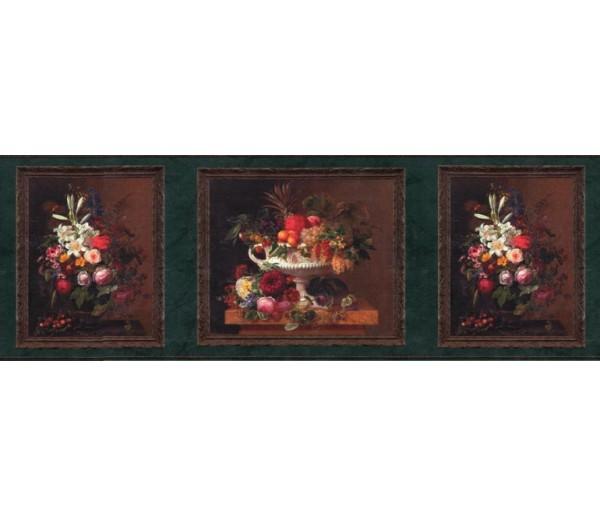 Clearance: Floral Wallpaper Border b3243GB