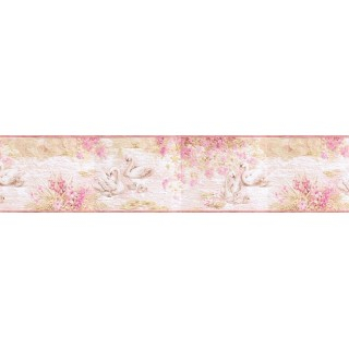 6 3/4 in x 15 ft Prepasted Wallpaper Borders - Birds Wall Paper Border b3286