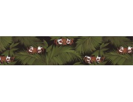 6 3/4 in x 15 ft Prepasted Wallpaper Borders - Animals Wall Paper Border B33953
