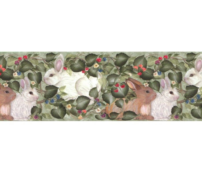 Rabbits Wallpaper Borders: Rabbits Wallpaper Border B33962