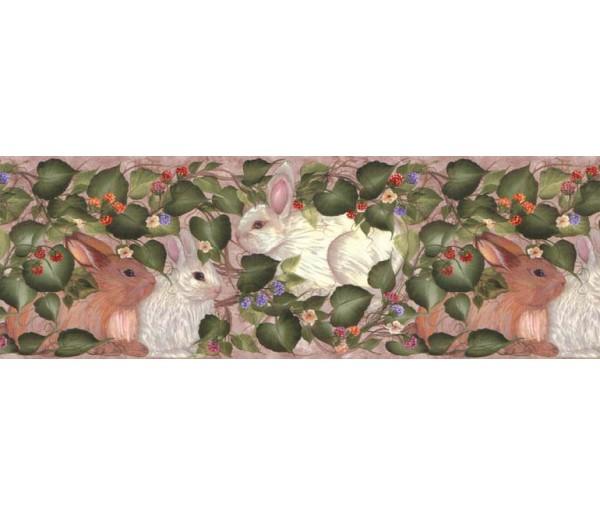 Rabbits Wallpaper Borders: Rabbits Wallpaper Border B33966