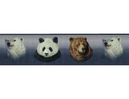 Prepasted Wallpaper Borders - Animals Wall Paper Border B3411GB
