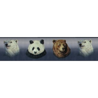 6 7/8 in x 15 ft Prepasted Wallpaper Borders - Animals Wall Paper Border B3411GB