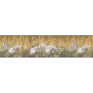 6 7/8 in x 15 ft Prepasted Wallpaper Borders - Birds Wall Paper Border B35092