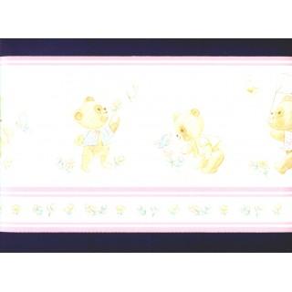 6 7/8 in x 15 ft Prepasted Wallpaper Borders - Kids Wall Paper Border b356lmr