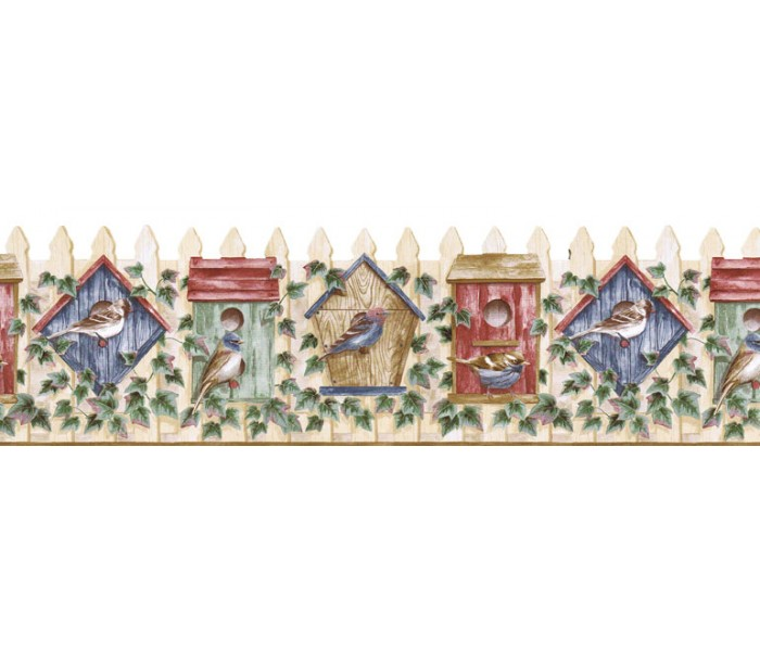 Bird Houses Wallpaper Borders: Birds House Wallpaper Border B3620COV