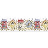 Clearance: Birds House Wallpaper Border B3622COV