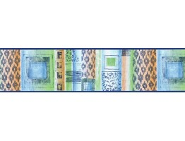 Prepasted Wallpaper Borders - Contemporary Wall Paper Border TW38008B