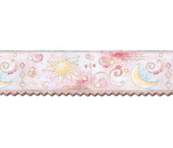 Clearance: Sun Moon and Stars Wallpaper Border TW38037DB