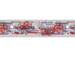 Prepasted Wallpaper Borders - Contemporary Wall Paper Border TW38044B