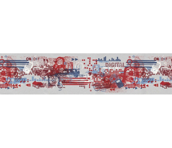 Clearance: Contemporary Wallpaper Border TW38044B