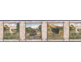 Prepasted Wallpaper Borders - Animals Wall Paper Border TA39019B