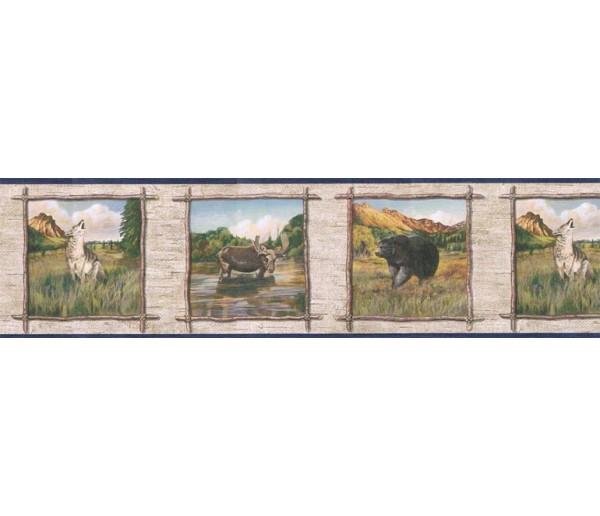 Deer Moose Wallpaper Borders: Animals Wallpaper Border TA39019B