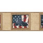 Novelty Borders Flag Wallpaper Border TA39022B Chesapeake Wallcoverings