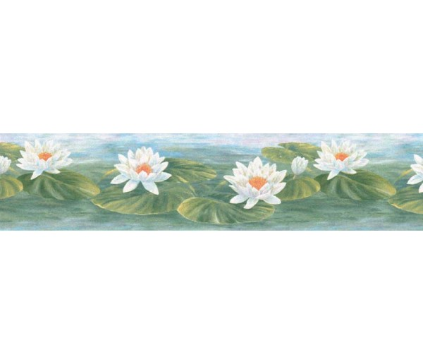 Floral Wallpaper Borders: Lotus Wallpaper Border B39719