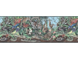 10 1/8 in x 15 ft Prepasted Wallpaper Borders - Animals Wall Paper Border B39901