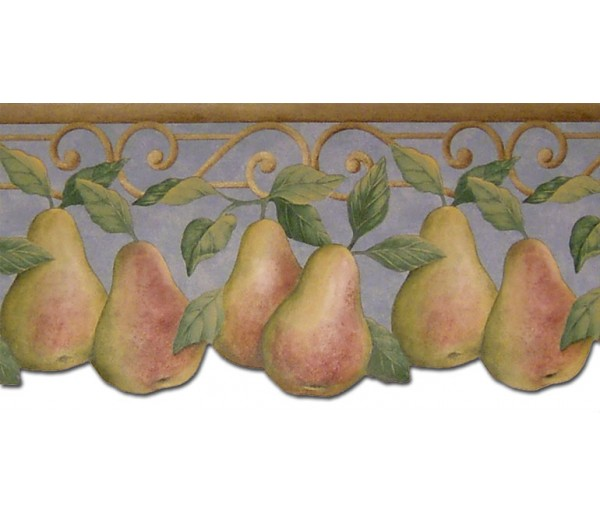 Clearance: Pear Fruits Wallpaper Border B40004PT