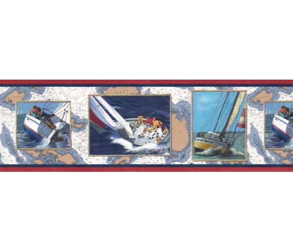 Clearance: Ships Wallpaper Border B4022SC