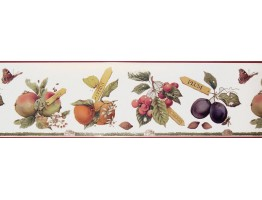 Prepasted Wallpaper Borders - Fruits Wall Paper Border MB4183B