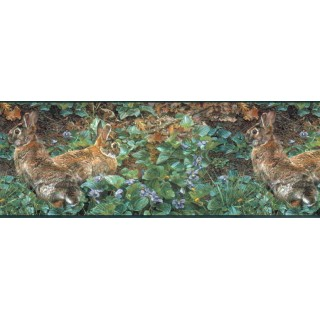 10 1/4 in x 15 ft Prepasted Wallpaper Borders - Rabbits Wall Paper Border SH4193B