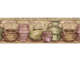 Prepasted Wallpaper Borders - Kitchen Wall Paper Border IL42005B