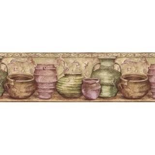 9 in x 15 ft Prepasted Wallpaper Borders - Kitchen Wall Paper Border IL42005B