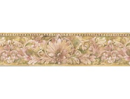 Prepasted Wallpaper Borders - Vintage Wall Paper Border IL42007B