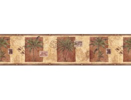 Prepasted Wallpaper Borders - Trees Wall Paper Border IL42013B