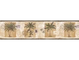 Prepasted Wallpaper Borders - Trees Wall Paper Border IL42014B