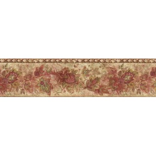 6 7/8 in x 15 ft Prepasted Wallpaper Borders - Trees Wall Paper Border IL42016B