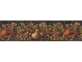 Prepasted Wallpaper Borders - Fruits Wall Paper Border IL42022B