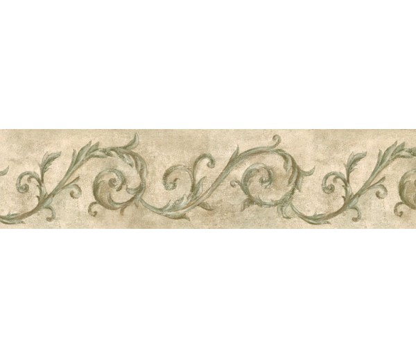 Prepasted Wallpaper Borders - Vintage Wall Paper Border IL42024B