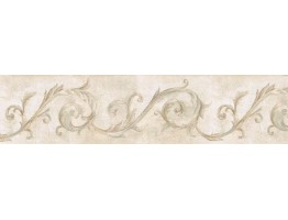 Prepasted Wallpaper Borders - Vintage Wall Paper Border IL42025B