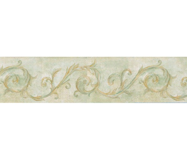 Prepasted Wallpaper Borders - Vintage Wall Paper Border IL42026B