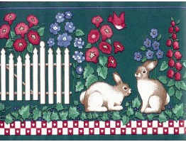 Rabbits Wallpaper Border PIE4212B