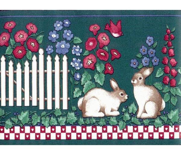Clearance: Rabbits Wallpaper Border PIE4212B